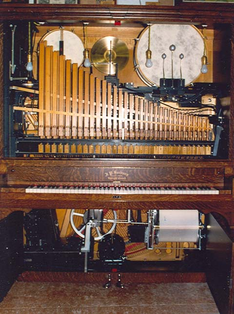 Front view of Seeburg G Orchestrion after a thorough comestic and mechanicl restoration.