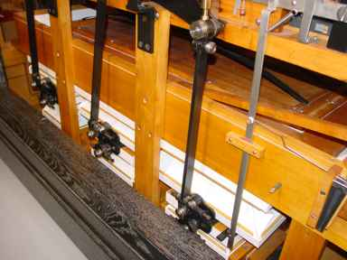 Feeder bellows (or pumps) that produce vacuum and wind-pressure to power the orchestrion.