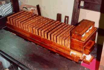 3-rank pipe chest in the  Wurlitzer style 33 Mandolin PianOrchestra.