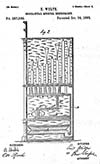 Primitive design inverted tracker bar patent dated October 3, 1883.