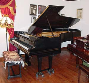 Steinway 9 foot grand with Duo-Art mechanism.