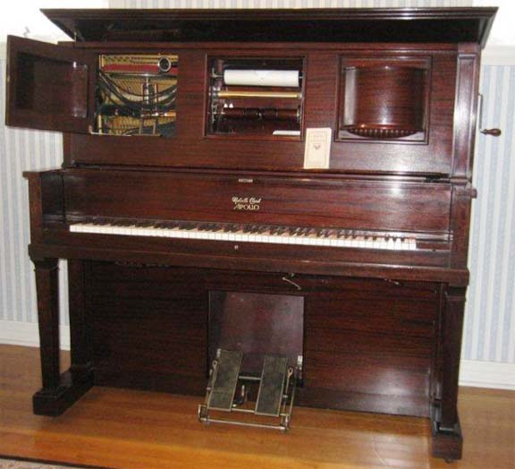 Meville Clark Apollophone player piano.