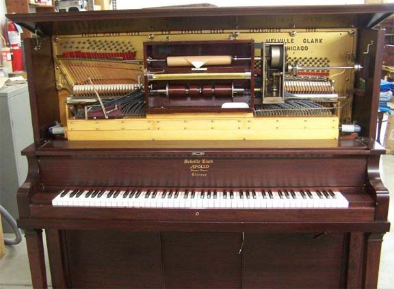 Melville Clark Solo Apollo upright player piano.