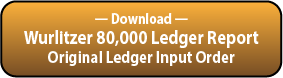 Download the Wurlitzer 80,000 Series Ledger Serial Order Report.
