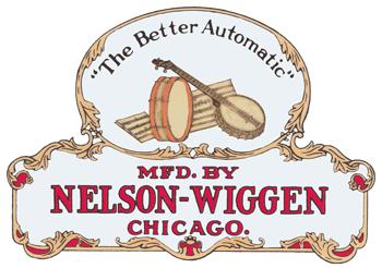 Nelson-Wiggen Piano Company Logo.